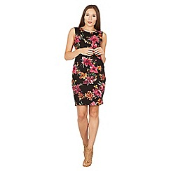 Izabel London - Black floral print pencil dress