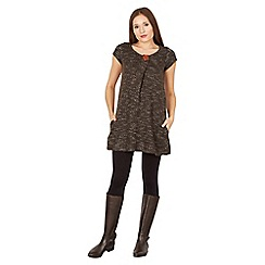 Apricot - Black charcoal knitted tunic dress