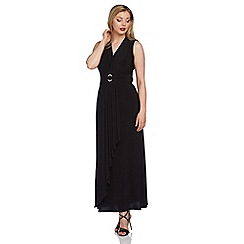 Roman Originals - Black diamante buckle maxi dress