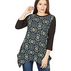 Tenki - 3/4 sleeves patterned top