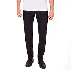 Steel & Jelly - Black slim fit cotton stretch chinos