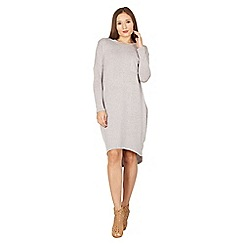 Izabel London - Light grey oversized pocketed jumper dress