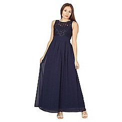 Izabel London - Navy sequin lace maxi dress