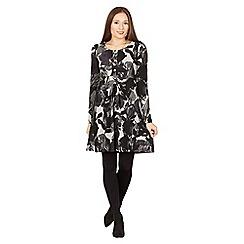 Izabel London - Grey long sleeve print tunic dress