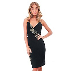 Be Jealous - Black embroidered strappy dress