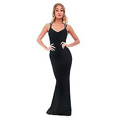Be Jealous - Black strappy maxi dress