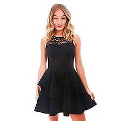 Be Jealous - Black sleeveless skater dress