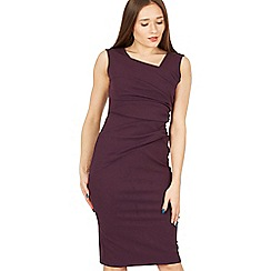 Feverfish - Purple side pleat asymmetric dress