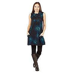 Apricot - Green ombre paisley print tunic dress