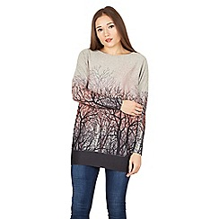 Apricot - Pink forest print ombre jumper