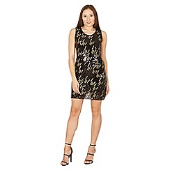 Izabel London - Black sequin and embroidered dress