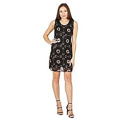 Izabel London - Black sleeveless sequin shift dress