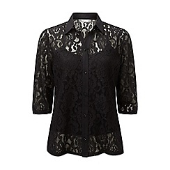 Lavitta - Black lace blouse with camisole