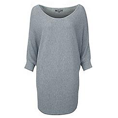 Lavitta - Grey rib batwing jumper