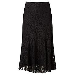 Lavitta - Black lace godet skirt