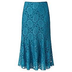 Lavitta - Turquoise lace godet skirt