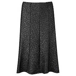 Lavitta - Black chevron cut about skirt