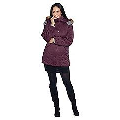 David Barry - Wine ladies padded coat