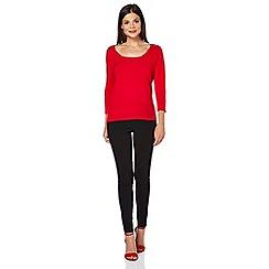 Roman Originals - Red tie shoulder jumper