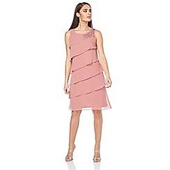 Roman Originals - Pink embellished frill dress