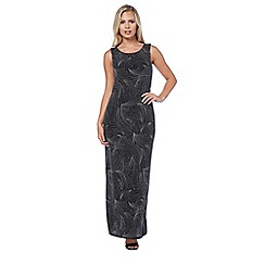 Roman Originals - Silver cowl back shimmer maxi dress