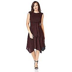 Roman Originals - Red glitter hanky hem dress