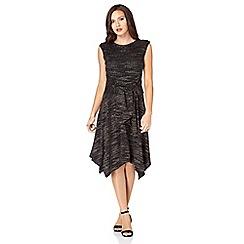 Roman Originals - Black glitter stripe dress
