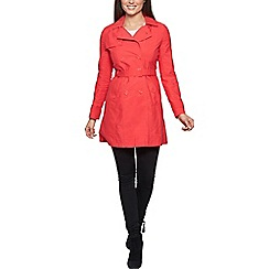 David Barry - Bright orange ladies trench jacket