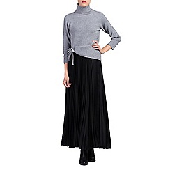 Jolie Moi - Black pleated crepe maxi skirt