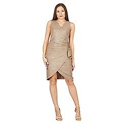 Tenki - Gold sleeveless shiny dress