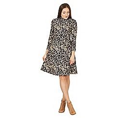 Izabel London - Multicoloured high neck sakter dress