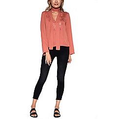 Amalie & Amber - Rose chiffon style blouse