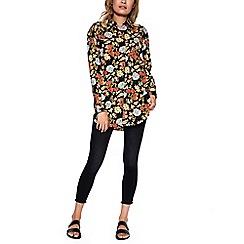 Amalie & Amber - Black floral oversized blouse