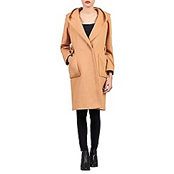 Jolie Moi - Camel hooded wool blend quilted inner coat