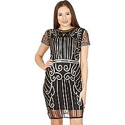 Izabel London - Multicoloured short sleeves sequin embellished dress