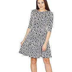 Izabel London - Multicoloured 3/4 sleeves print skater dress