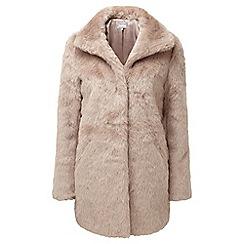 Lavitta - Pink faux fur 3/4 length coat