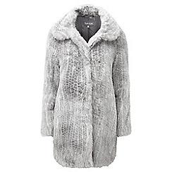 Lavitta - Silver faux fur coat