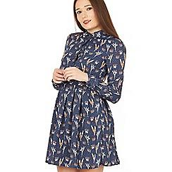 Tenki - Blue full sleeve patterned dress