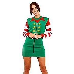 Be Jealous - Green elf costume dress