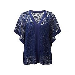 Lavitta - Blue sparkle lace overlay blouse
