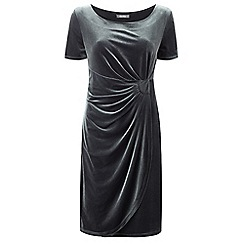 Lavitta - Silver velour wrap dress