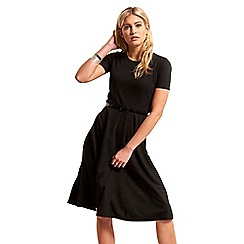 Be Jealous - Black belted midi skater dress