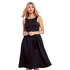 Be Jealous - Black pleated cut away midi dress