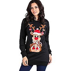 Be Jealous - Black reindeer long sweatshirt