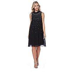 Roman Originals - Black embellished chiffon dress
