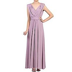 Jolie Moi - Light purple plunging v-neck draped maxi dress