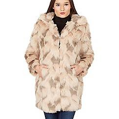 Blue Vanilla - Light pink abstract fur coat