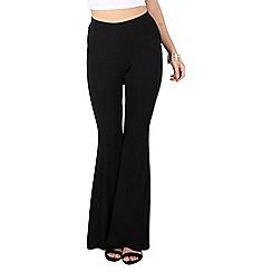 Be Jealous - Black plain top skiny flared palazzo leggings