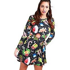 Be Jealous - Black christmas gift swing dress